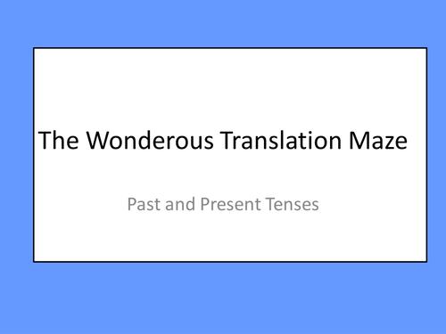 Past and Present Translation Maze