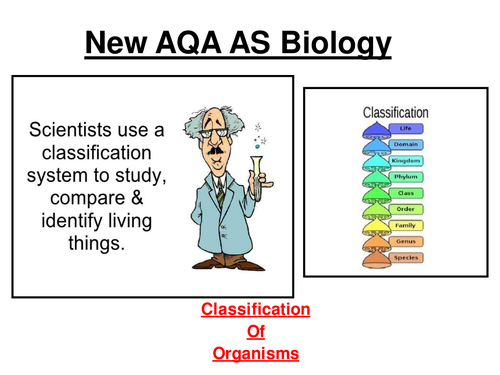 New AQA AS Biology - Classification