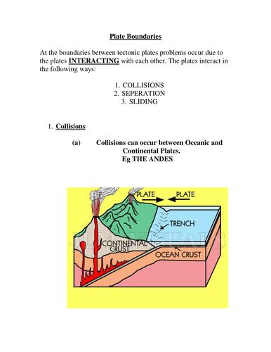 GCSE Chemistry : Tectonic Plates