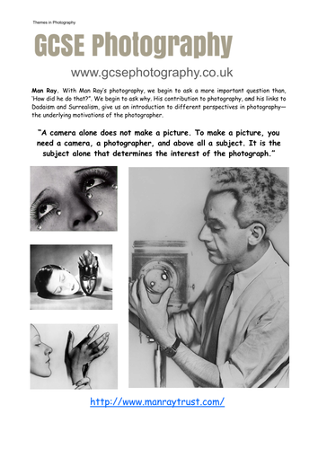 Man Ray - photographer
