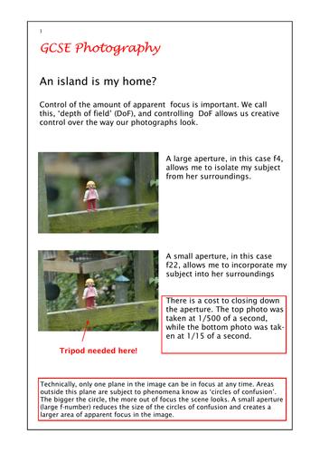 Landscape photography for GCSE