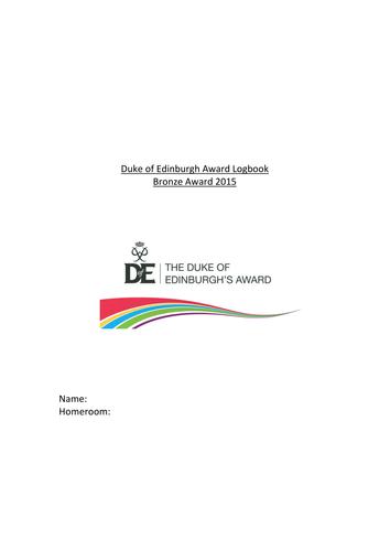 Duke of Edinburgh Bronze Award Logbook