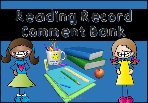 Reading Record Comment Bank