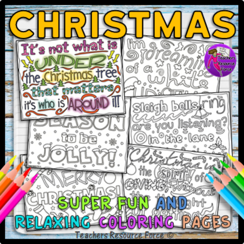 Christmas Quotes Colouring Pages for teens
