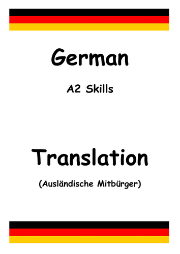 German a level skills translation immigration for Farcical german translation