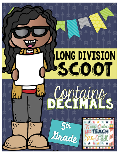 Long Division with Decimals SCOOT - 5th Grade Division Game