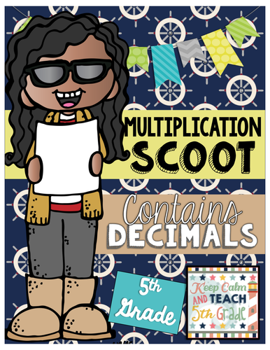 Multi-Digit Multiplication with Decimals SCOOT Game