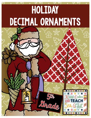 Holiday Decimal Review - Round Decimals, Add Decimals, Multiply Decimals