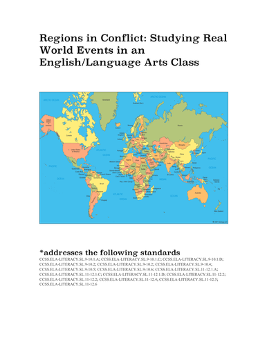 Regions in Conflict: Studying Real World Events in an English/Language Arts Class