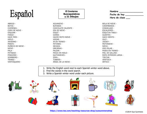 Spanish winter word search puzzle and image ids by suesummersshop spanish winter word search puzzle and image ids by suesummersshop teaching resources tes ccuart Image collections
