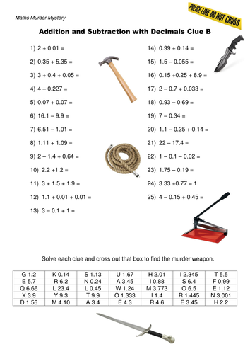 Addition and Subtraction of Decimals worksheet by dh2119 ...