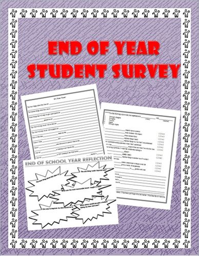 End of School Year Questionnaire/Survey: What do your students think?
