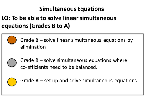 Solving Simultaneous Equations by jessica_walter - Teaching ...