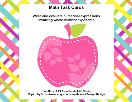 Math Task Cards-Exponents