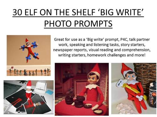 Elf On The Shelf Big Write Prompts By Erylands Teaching