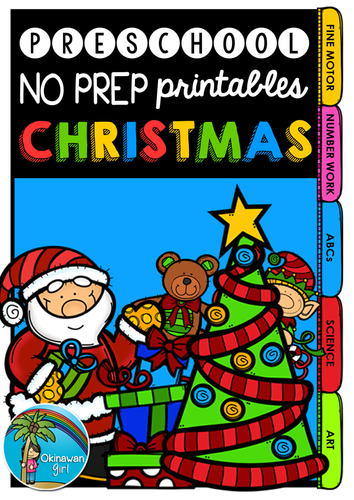 Christmas No Prep Printables for Preschoolers