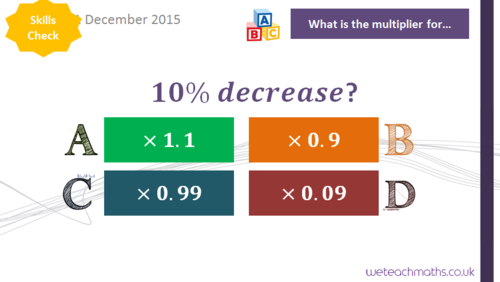 Reverse Percentage Change Whole Lesson - GCSE Maths 9 - 1