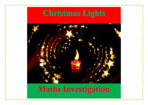 Christmas Lights Maths Investigation