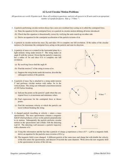 Alevel Circular Motion Homework