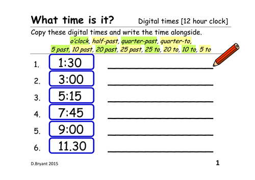 Time Worksheets » Time Worksheets 5 Minute Intervals - Preschool ...