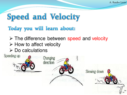 Speed and Velocity Physics by TeacherRambo Teaching Resources – Speed and Velocity Worksheet