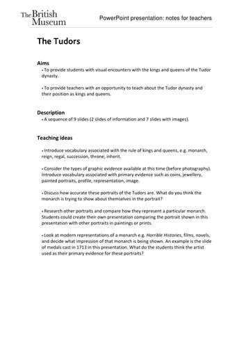The Tudors: classroom image bank
