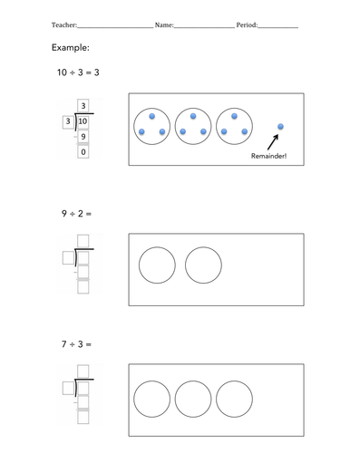 Model and solve divisions(with remainders!)