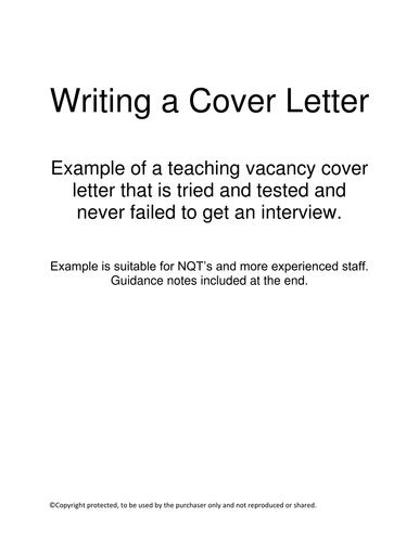 cover letter letter of application example and advice by