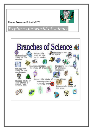 the different branches of science