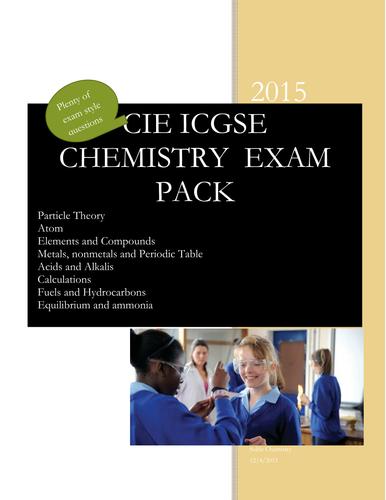 CIE IGCSE Chemistry Exam Pack