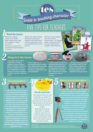 Five tips for teaching character