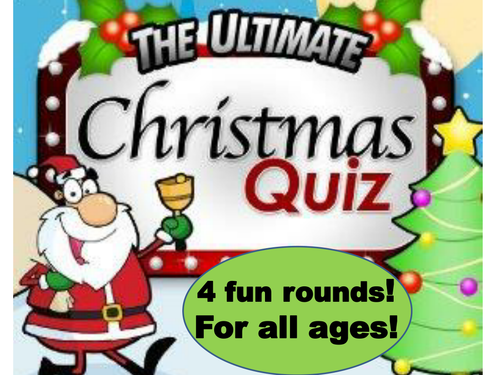 Christmas Quiz  - Fab and Fun for all ages and abilities!