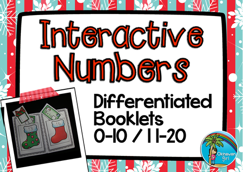 Christmas Stockings Interactive Maths Booklets (1-10 & 11-20)