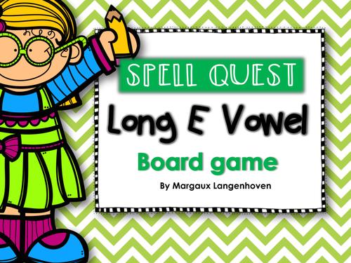 Long E Vowel Board Game