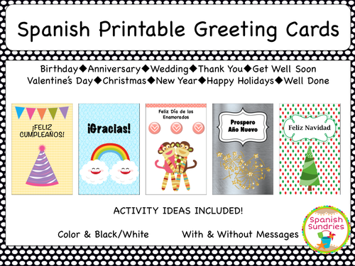 Spanish greeting cards by sombra1230 teaching resources tes m4hsunfo