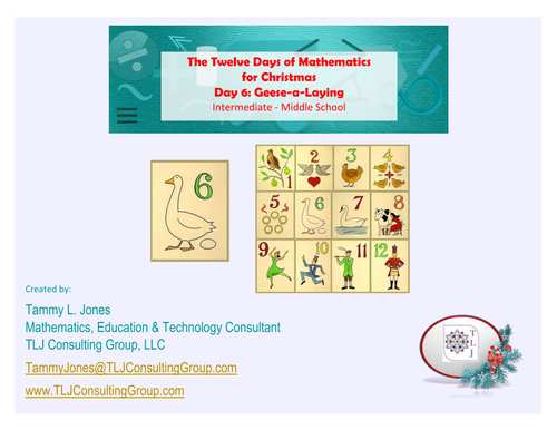 12 Days of Mathematics for Christmas Day 6-Int-MS