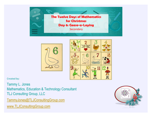 12 Days of Mathematics for Christmas-Day 6-Secondary