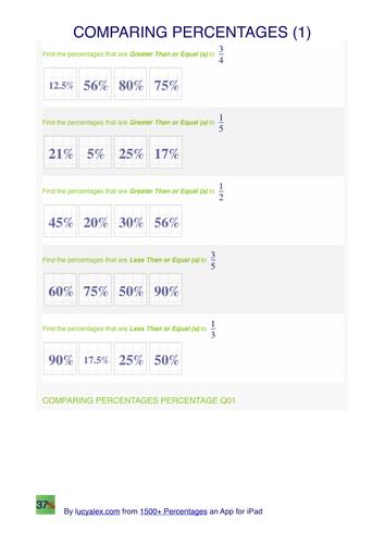 Comparing  percentages