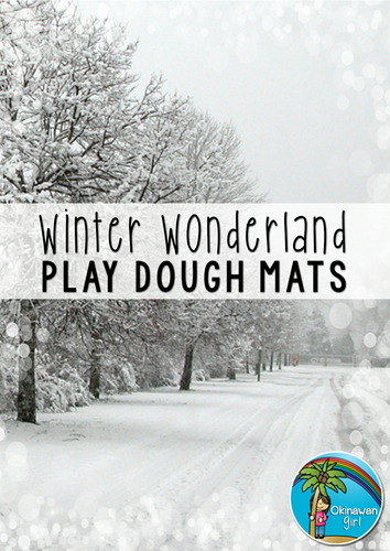 Winter Play Dough Mats