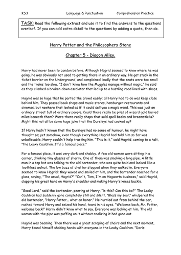 Harry Potter Comprehension By Sazo123 Teaching Resources border=
