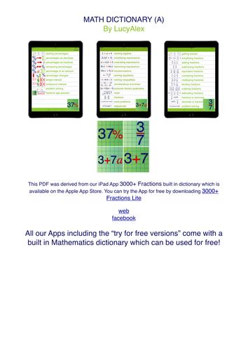 Mathematics Dictionary - resource