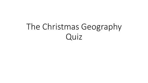 Christmas Geography Quiz 2015