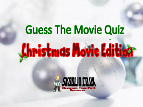 Christmas Guess the Movie Quiz