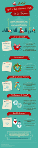 Quick & Easy Christmas Crafts for the Classroom [Infographic]