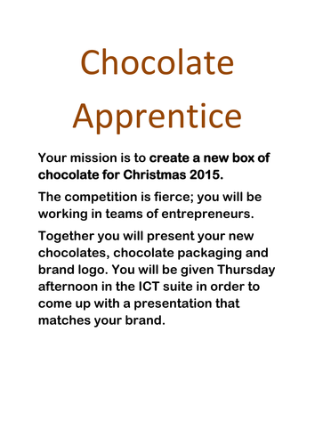 Chocolate Themed Enterprise Week