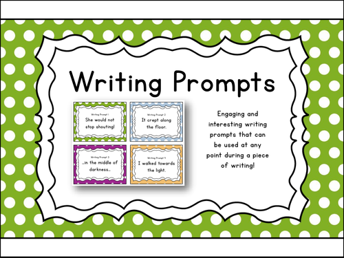 writing prompts creative writing print go 40 task cards
