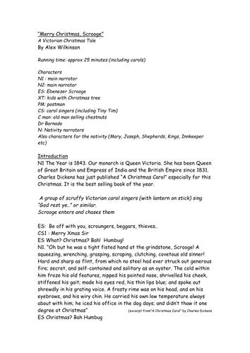 scrooge playscript by adamshaw100 teaching resources tes