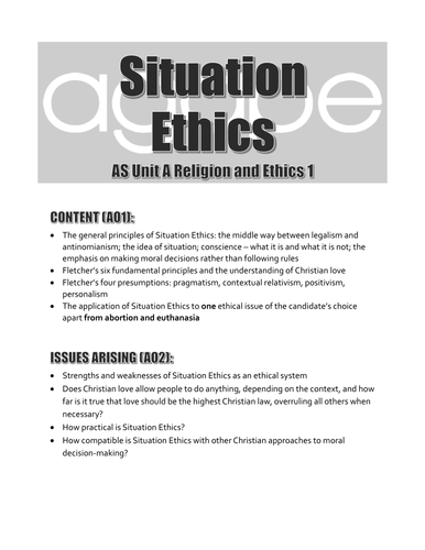 AQA A-Level Religious Studies - Religion and Ethics Revision Guide