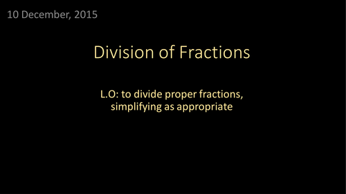 Dividing  Fractions (including functional questions)