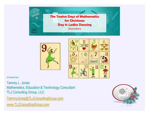 Twelve Days of Mathematics for Christmas-Day 9-Secondary